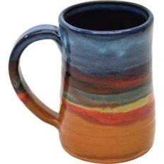17 Oz Tankard in Azulscape glaze