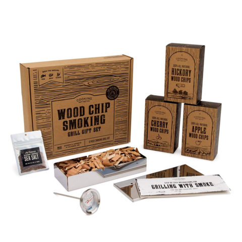 Cooking Gift Set | Original Wood Smoked BBQ Kit | 8 Piece Grilling Set | Turn Any Grill into a BBQ Smoker | Grilling Gifts for Dad