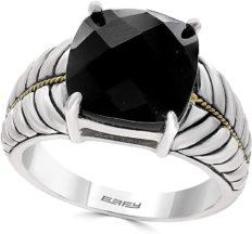 Effy 925 Sterling Silver & 18K Yellow Gold Onyx Ring, 5.15 TCW IRL0J621XX
