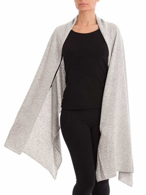 Dalle Piane Cashmere - Stole cashmere blend - Made in Italy, Color: Grey, One Size - Woman