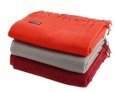 "Cashmere Boutique: 100% Pure Cashmere Throw Blanket (Color: Crimson Red, Size: 52"" x 72"")"
