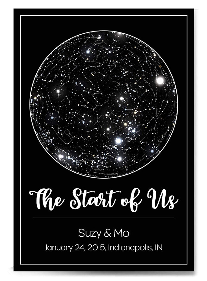 Custom Personalized Star Constellation Map, The Original Star Map, Star Chart, Choose Your Occasion, Custom Engagement Anniversary Present, Night Sky Poster