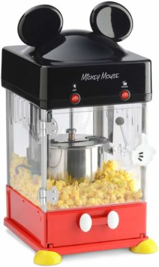 Disney Mickey Mouse Kettle Popper Popcorn Maker, 8 cup, Red/Black