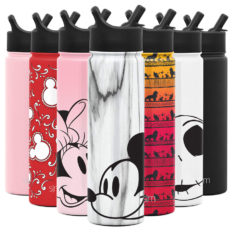 Simple Modern Disney Character Insulated Water Bottle Tumbler with Straw Lid Reusable Stainless Steel Wide Mouth Travel Cup, 22oz, Mickey on Marble
