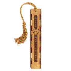 Personalized 5th Anniversary with Names and Wedding Date, Engraved Wooden Bookmark with Tassel - Search B01EB6BLRY for Non-Personalized Version
