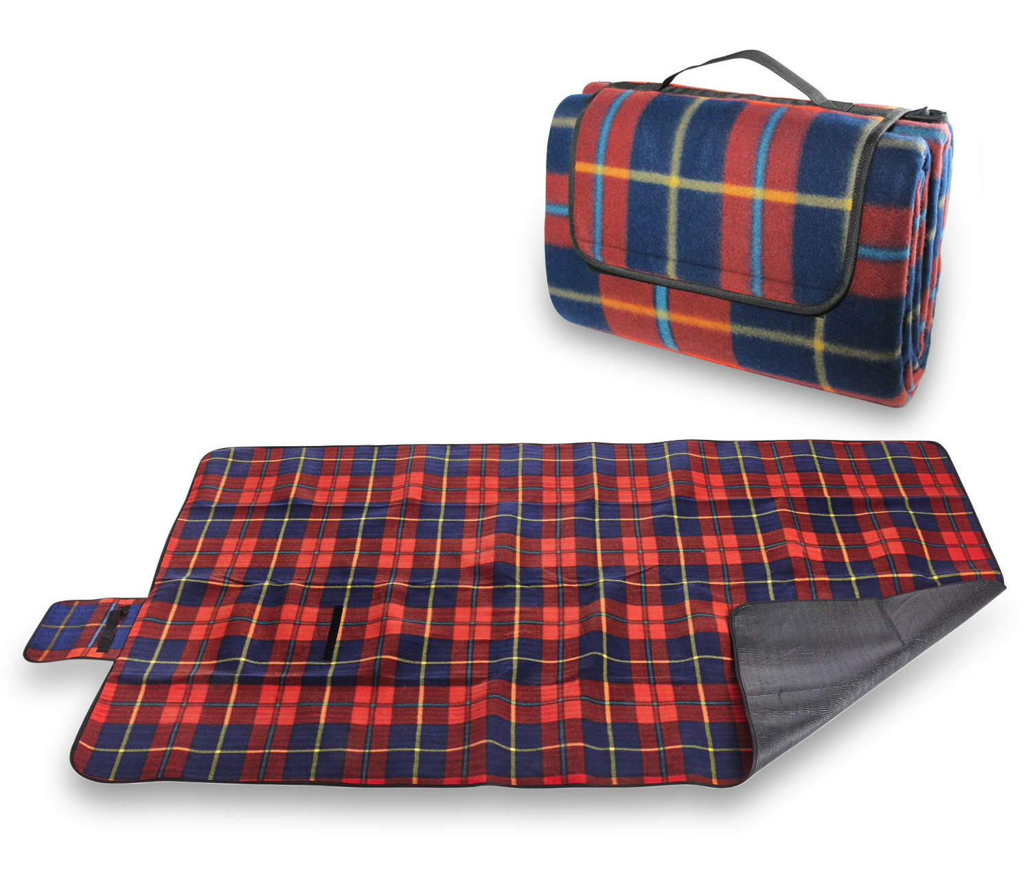 Pratico Outdoors Large Picnic and Outdoor Blanket, 60 x 80 inch, Red