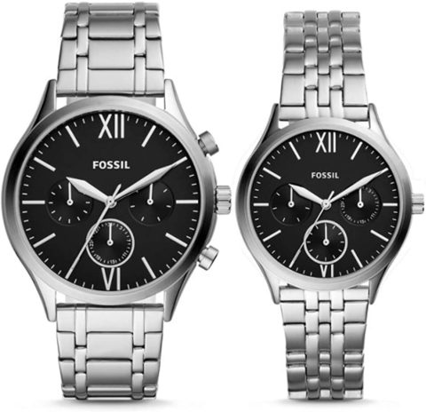 Fossil His and Her Stainless Steel Watch Gift Set BQ2469SET