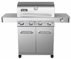 Monument Grills 17842 Stainless Steel 4 Burner Propane Gas Grill with Rotisserie Kit