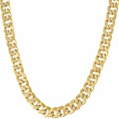 LIFETIME JEWELRY 6mm Cuban Link Chain Necklace 24k Gold Plated for Men and Women (Gold, 36)
