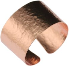 Hammered Copper Cuff Bracelet by John S Brana Handmade Jewelry - 100% Durable Copper