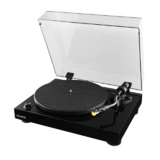 Fluance RT80 Classic High Fidelity Vinyl Turntable Record Player with Audio Technica AT91 Cartridge, Belt Drive, Built-in Preamp, Adjustable Counterweight, Solid Wood Plinth - Piano Black