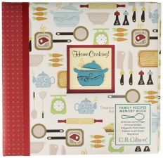 """C.R. Gibson Protec Home Cooking'' Family Recipe Book with Tabbed Dividers and Sheet Protectors, W x 9.5'' H, 9.5"""" x 9.5"""""""