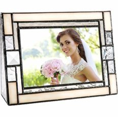 Picture Frames 4x6 Horizontal Photo Wedding Gift Ivory Stained Glass Pic 407-46H