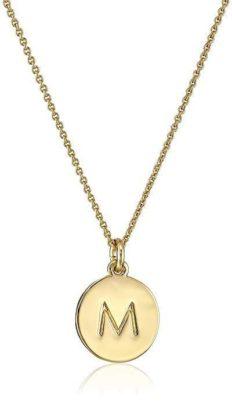 "Kate Spade New York Gold-Tone Alphabet Pendant Necklace, 18"""