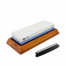 Cutting Edge Objects Premium Knife Sharpening Stone. Double sided whetstone sharpener. Grit 1000/6000. Non-slip bamboo base. Free knife angle guide and video.