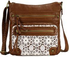 Scarleton Small Lace Crossbody Bag for Women, Purses for Women, Shoulder Bags for Women, Handbag for Women, H191204 - Brown