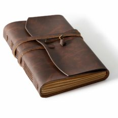 Bedsure Leather Journal Notebook(5x7 inches) - Rustic Handmade Vintage Leather Bound Journals for Men and Women - Kraft Lined Paper 240 Pages, Leather Book Diary Pocket Notebook, Brown