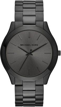 Michael Kors Men's Slim Runway Black Watch MK8507