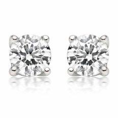 1/4Ct Tw Diamond Stud Earring in 14K White Gold (White), White, Size No Size
