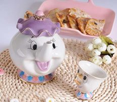 NEW Beauty and The Beast Mrs. Potts Chip Tea Pot & Cup set Teapot Mug (Pot & Cup)