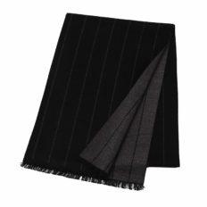 CUDDLE DREAMS Men's Silk Scarves, 100% Mulberry Silk Brushed, Luxuriously Soft (Stripe Black)
