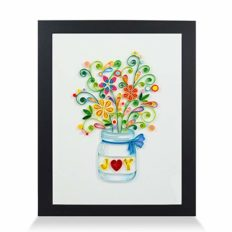 PaperTalk Joy Handmade Frame Paper Quilling 3D Wall Art as Unique Gifts for Her for Home Decor & Holiday