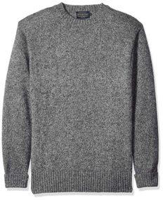 Pendleton Men's Shetland Crew Neck Sweater, pepper marl, XS