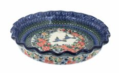 Blue Rose Polish Pottery Maria Pie Plate