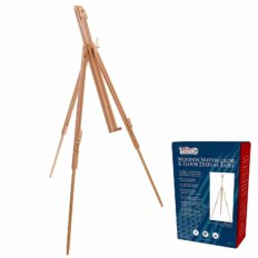 """U.S. Art Supply Harbor 72"""" High Wood Artist Watercolor Field and Display Easel Stand - Beechwood Adjustable Floor & Tabletop Tripod, Holds Painting Canvas Up to 42"""" Vertical, 28"""" Horizontal, Portable"""