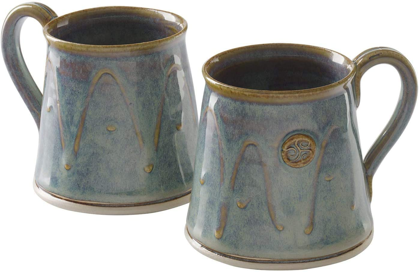 Castle Arch Pottery Set-2 Cylinder Coffee and Tea Mugs Made in Ireland