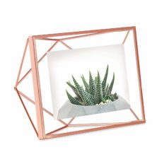 Umbra Prisma Picture Frame, 4 x 6 Photo Display for Desk or Wall, Copper