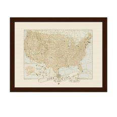 Personalized Anniversary Wedding USA Push Pin Travel Map