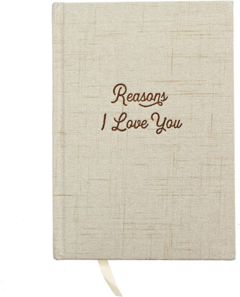 Avocado Goods Reasons Why I Love You Hardcover Linen Journal Book for Boyfriend or Girlfriend, Husband or Wife - Anniversary, Bride & Groom, Couples Gifts Notebook for Engagement, Proposal or Wedding Gift