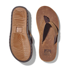 Reef Men's Voyage LE Sandals, Dark Brown, 10