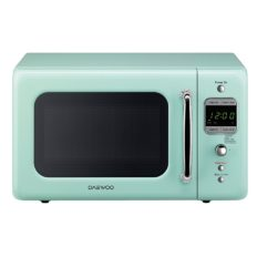 Daewoo KOR-7LREM Retro Countertop Microwave Oven 0.7 Cu. Ft., 700W | Mint Green