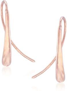 Ross-Simons 14kt Rose Gold Elongated Teardrop Earrings