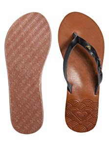 Roxy Women's Liza Flip Flop Sandal, Black 20, 5 M US