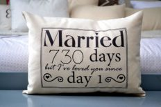 2nd Anniversary Cotton Gift, Cotton Anniversary Gift for her, Married for 730 days but, I've loved you since day 1 Cotton Duck Fabric