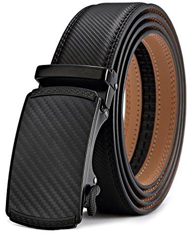 Men's Belt,Bulliant Slide Ratchet Belt For Men Dress Pant Shirt Genuine Leather,Trim To Fit