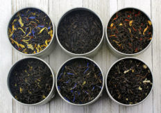 Fruit-Tea Summer Tea Sampler, Refreshing Loose Leaf Tea Assortment Featuring Blackberry, Vanilla, Tropicana, Gold Rush, Raspberry, & Strawberry Kiwi Black Teas - Approx 90+Cups
