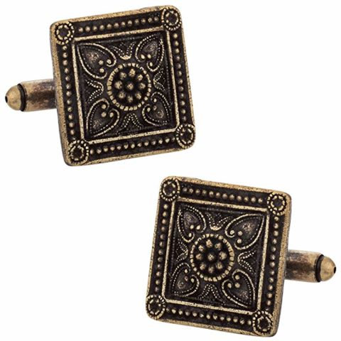 Bronze Victorian Square Cufflinks With Gift Box