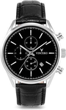 Vincero Men's Chrono S Luxury Watch 40mm Quartz Movement Black/Silver
