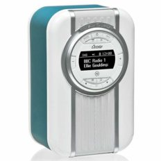 VQ Christie HD Digital Radio with FM, Bluetooth/NFC, Alarm Clock, Rotating Display & Enamel Fascia – Teal