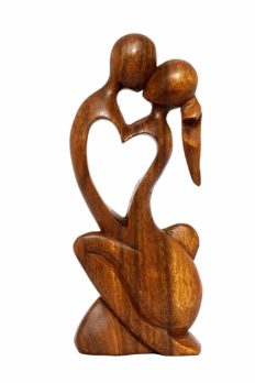 """G6 COLLECTION 12"""" Wooden Handmade Abstract Sculpture Statue Handcrafted - Endless Love - Gift Art Decorative Home Decor Figurine Accent Decoration Artwork Handcarved Endless Love"""