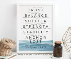 Gift for Him, Personalized You Are My Anchor Art Print, First Wedding Anniversary Paper Gift