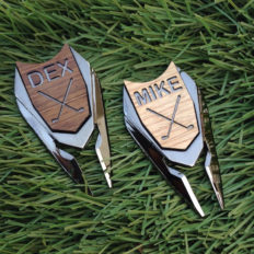 Golf Ball Marker Divot Repair Tool Personalized Custom Engraved Gift REAL Wood Markers Golfer Accessories