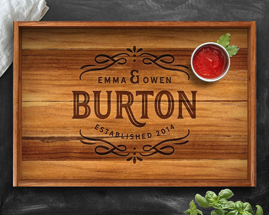 Serving Tray, Teak, Custom Serving Tray, Tray with Handles, Engraved, Tray, Breakfast in Bed, Breakfast Tray, Wood Tray, Coffee Table Tray, Personalized Tray, Large Tray, Ottoman Tray, Wooden Tray