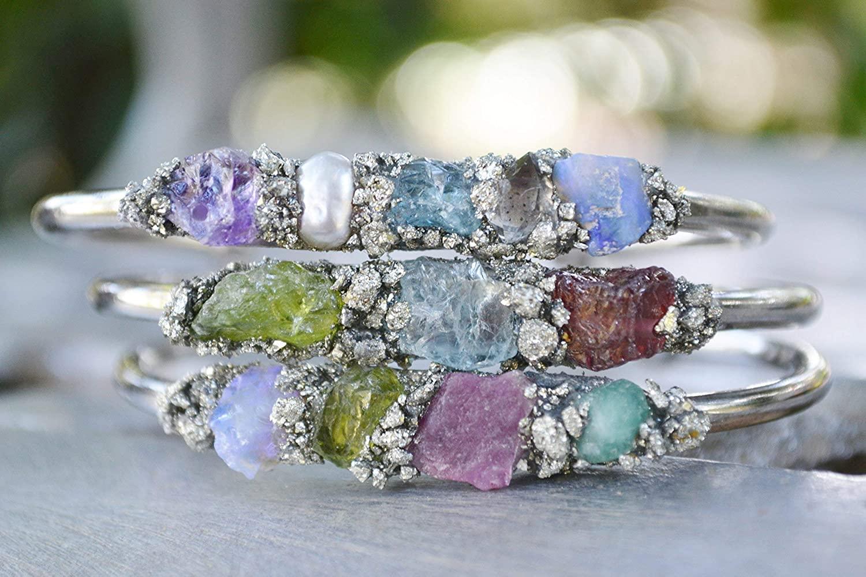 Birthstone Jewelry, Garnet, Amethyst, Aquamarine, Emerald, Herkimer Diamond, Pearl, Ruby, Peridot, Sapphire, Opal, Citrine, Turquoise, Blue Topaz, Custom Bracelet, Gemstone Bracelet