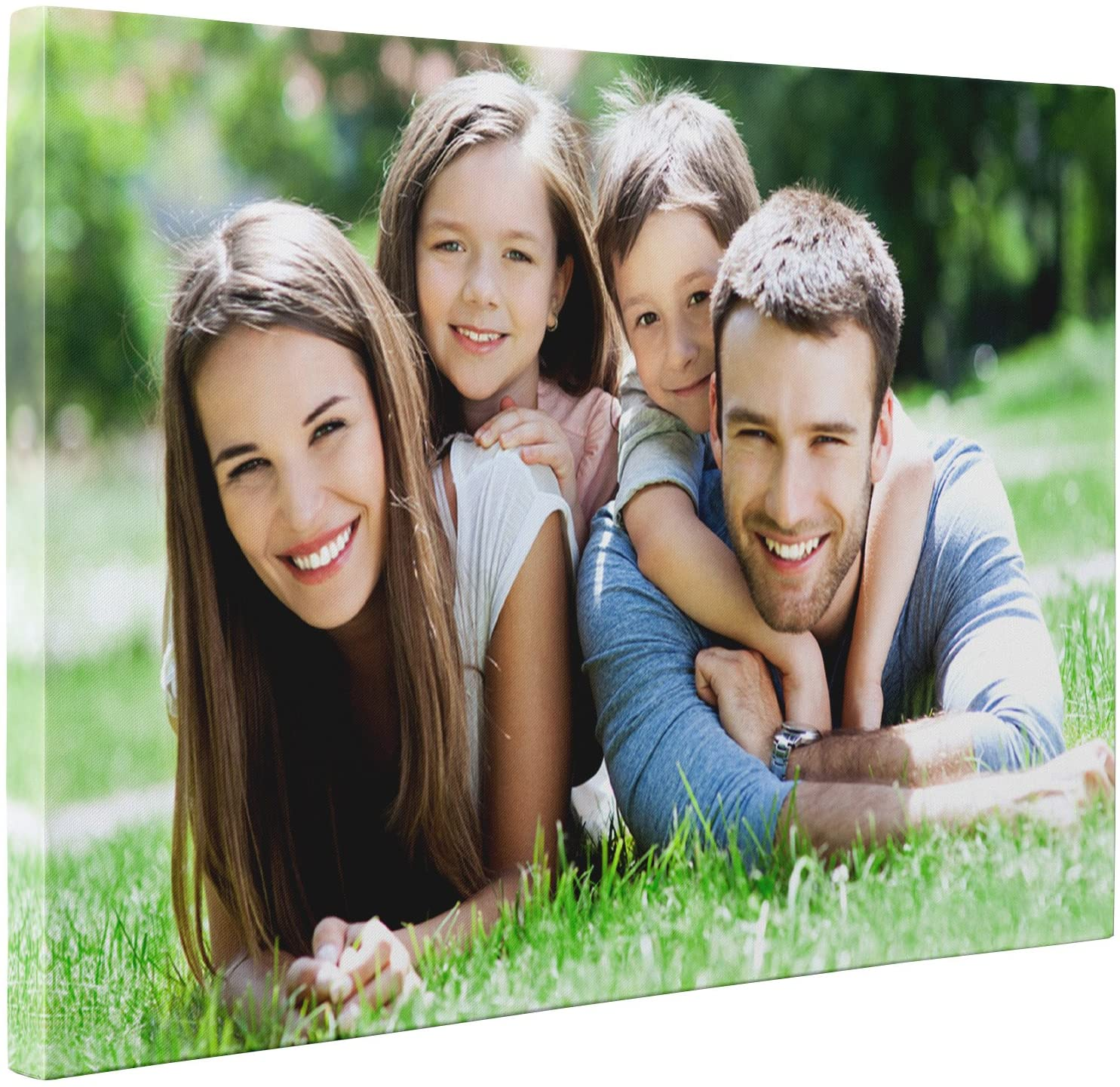 """Niwo ART - On Demand Photo to Canvas - Turn Your Image into Personalized Premium Canvas Art Print - Customized Canvas Picture Stretched on Wooden Frame as Gallery Artwork (16x24, 0.75"""" Thickness)"""