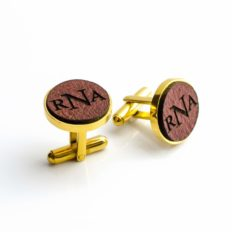 Personalized Leather Cufflinks With Monogram or Handwriting Drawing, Men's Accessory